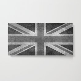 British Union Jack flag in grungy tex Metal Print