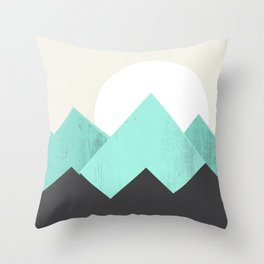 Pastel Mountains IV Sierra Throw Pillow