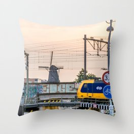 Sunrise Commute Throw Pillow