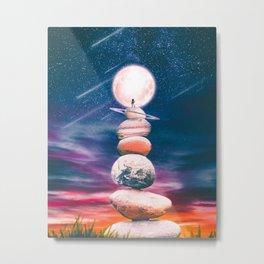 Stacking Planets Metal Print