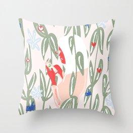 Planting The Social Life Throw Pillow