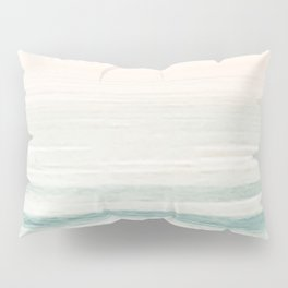 Washed Out Ocean Waves // California Beach Surf Horizon Summer Sunrise Abstract Photograph Vibes Pillow Sham