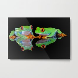DOUBLE MIRROR FROGGINESS Metal Print