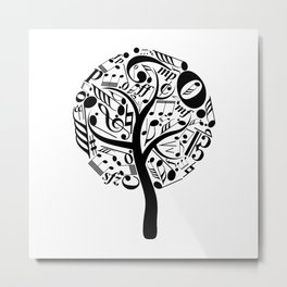 Music tree Metal Print