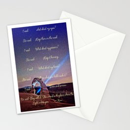 The Wound Is The Place Where The Light Enters You - Rumi Stationery Cards