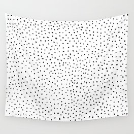 Dotted White & Black Wall Tapestry