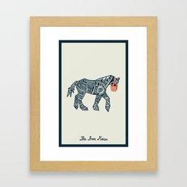 Iron Horse Framed Art Print