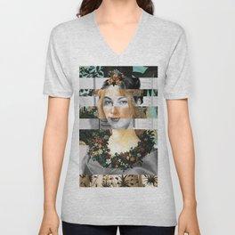 Sandro Botticelli's Flora & Ava Gardner Unisex V-Neck