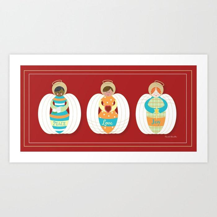 Peace Love & Joy Art Print