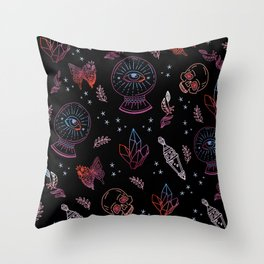 Witchy Mysticism Throw Pillow