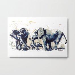 ELEPHANTS    East Africa     By Lipton on Safari Metal Print