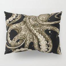 Octopsychedelia Sepia Pillow Sham