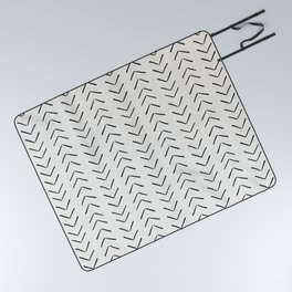 Mud Cloth Big Arrows in Cream Picnic Blanket