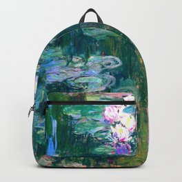 water lilies : Monet Backpack