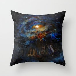 Distorted Galaxy Throw Pillow