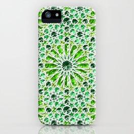 Geometric gemstones (emerald) iPhone Case