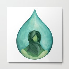 Tear Drop-Turquoise Metal Print