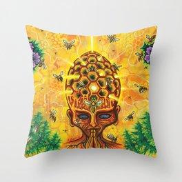 Hive-Mind Throw Pillow