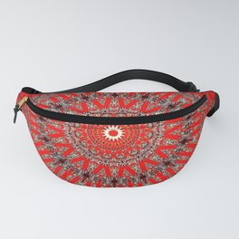 Rich Red Vintage Mandala Fanny Pack