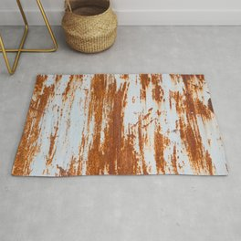 grunge rusty steel wall background and texture Rug