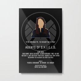 Agents of S.H.I.E.L.D. - May Metal Print