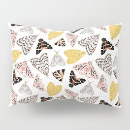 Moth's Diverse Beauty Pattern Pillow Sham