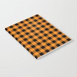 Plaid (orange/black) Notebook