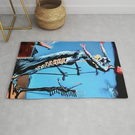 Salvador Dali - The Burning Giraffe 1937 Artwork for Wall Art, Prints, Posters, Tshirts, Men, Women, Kids Rug