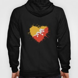 Bhutan Heart Flag Hoody
