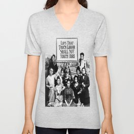 Lips That Touch Liquor Shall Not Touch Ours Unisex V-Neck