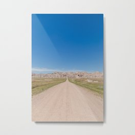 Backroads at the Badlands - Travel Photography Metal Print