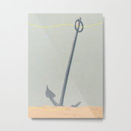 Massive Anchor Metal Print