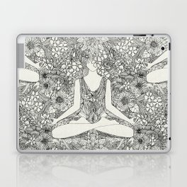 lotus garden vintage black Laptop & iPad Skin