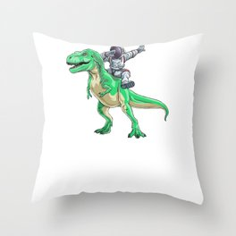 I Need More Space Astronaut Trex Outserspace Science Geek Throw Pillow