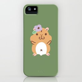 Hamster and Flower iPhone Case