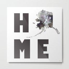 """Alaska """"HOME"""" Metal Print"""