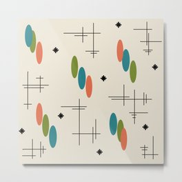 Ovals and Starbursts Colorful 1 Metal Print