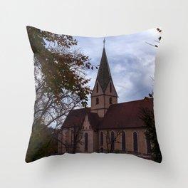 View to the Monastery church of Blaubeueren Throw Pillow