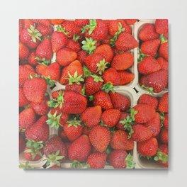 strawberry appetite Metal Print