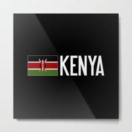 Kenya: Kenyan Flag & Kenya Metal Print
