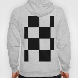 Checkered,black and white checked pattern.Gingham. Hoody