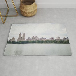 Monochromatic | Moody Architecture Landscape Photography of New York City Central Park Horizon Rug