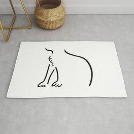 Sitting Cat Rug