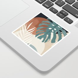 Abstract Art Tropical Leaves  Sticker