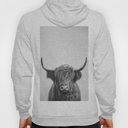 Highland Cow - Black & White Hoodie