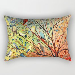 27 Birds Rectangular Pillow