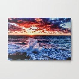 SuNset Waters Metal Print