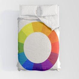 Pantone color wheel Comforters