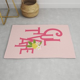 Cultivate Typography Art Rug