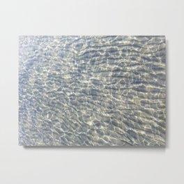 When Light Meets Water Metal Print